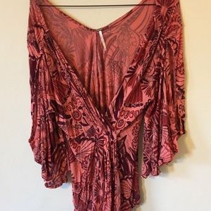 Free People bell sleeved blouse